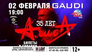 группа АЛИСА 2 февраля 2018 GAUDI Киров