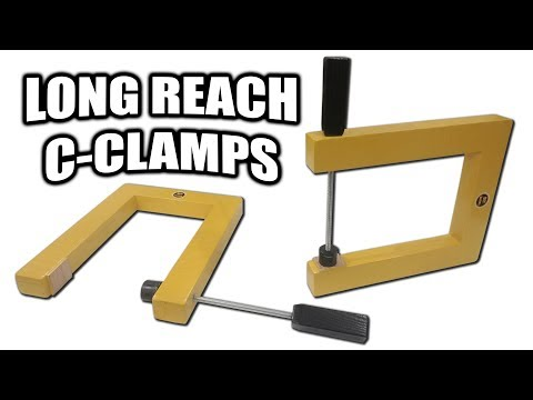 How to Make Long Reach C-Clamps for Under $10 (Strength Test at the End)