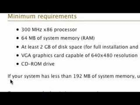 OS System Requirements