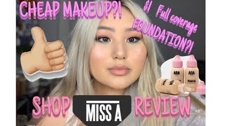 $1 MAKEUP?!? || SHOP MISS A HAUL + REVIEW || FULL FACE, BRUS…