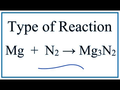 Type Of Reaction For Mg + N2 = Mg3N2