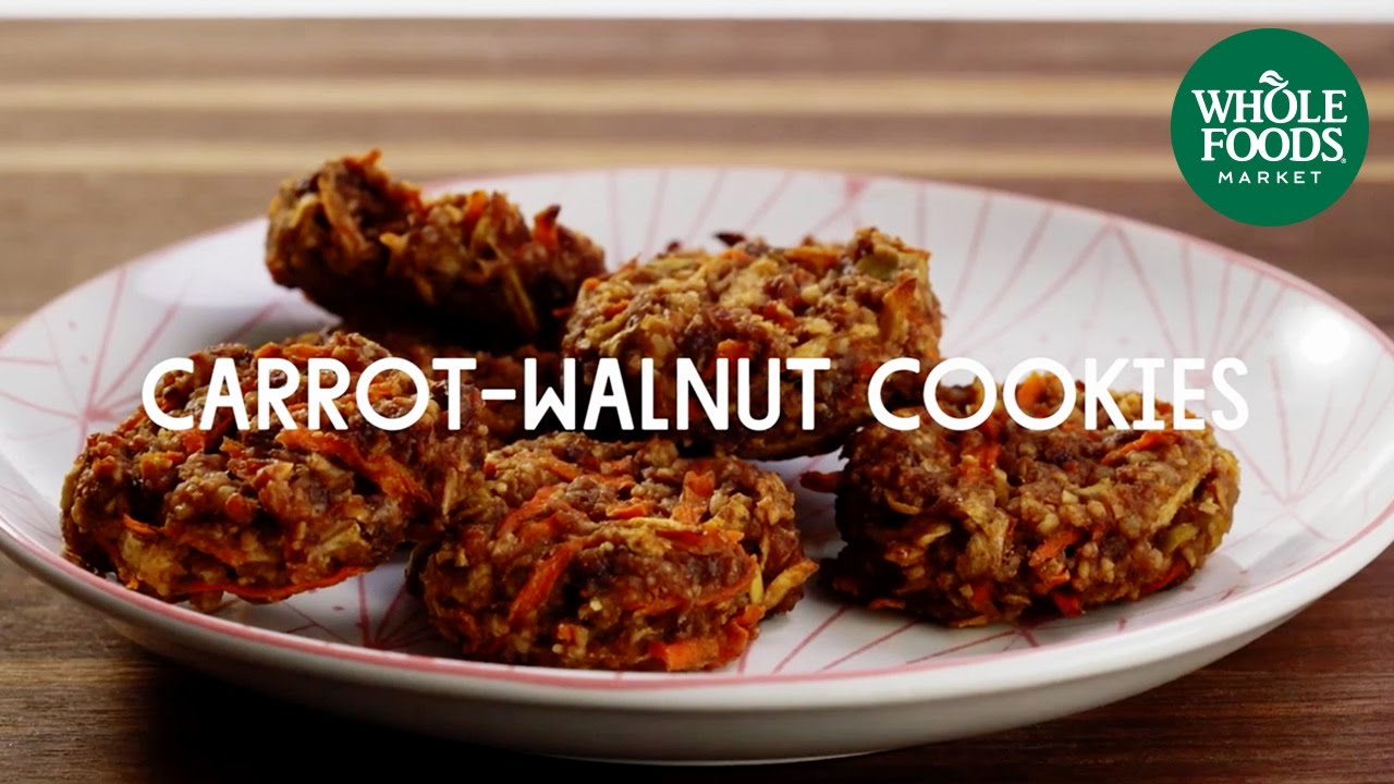 Carrot walnut power cookies special diet recipes whole foods carrot walnut power cookies special diet recipes whole foods market youtube forumfinder Image collections