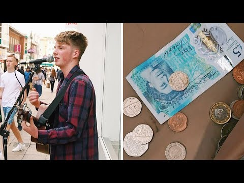 How much money I got busking today - Tim Newman