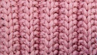 Французская резинка спицами   Knitting ribbon pattern Узор спицами 52