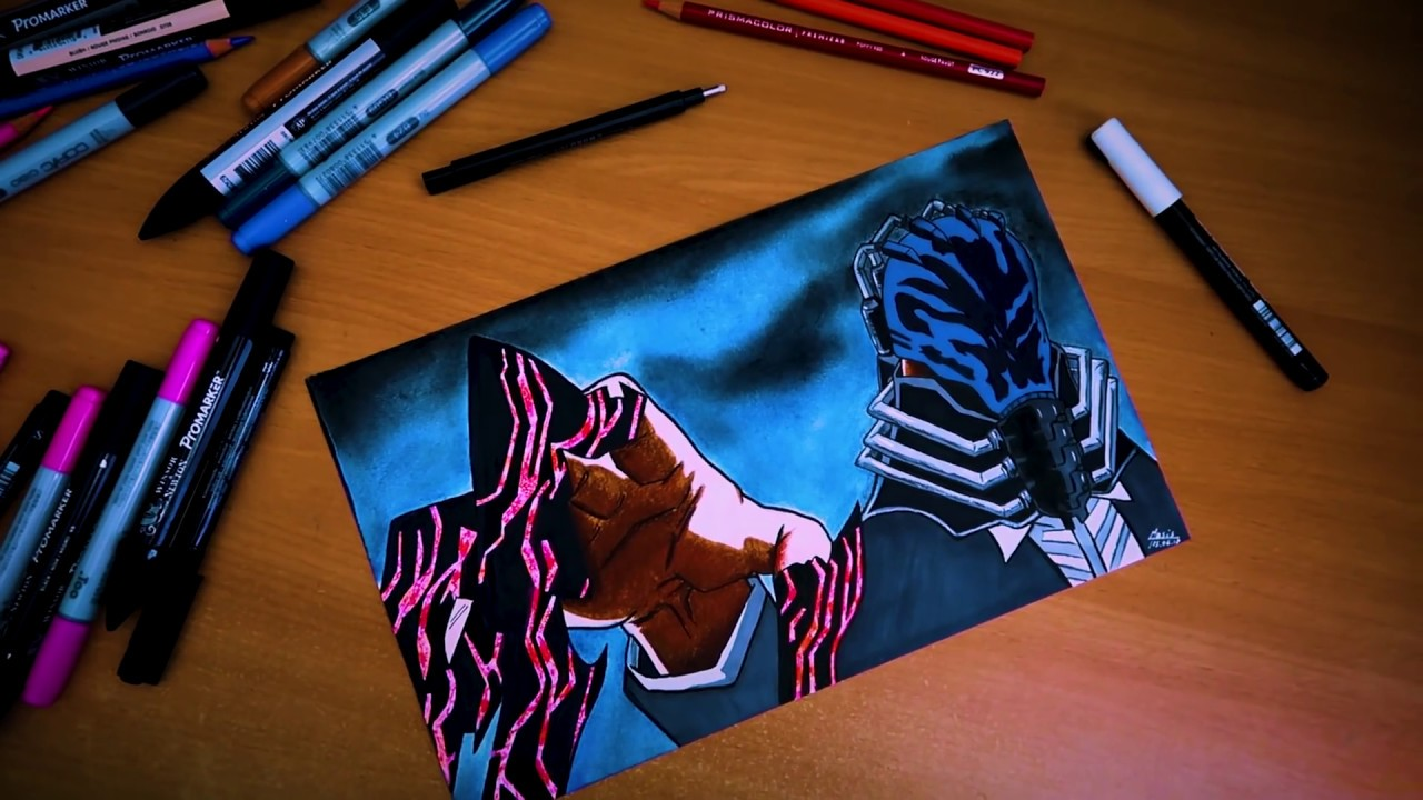 Drawing ALL FOR ONE ! ( BOKU NO HERO ACADEMIA ) ALL MIGHT ...