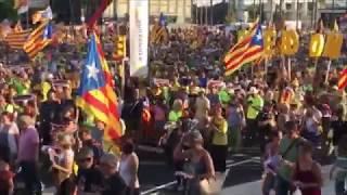 """Manifestación en Barcelona: """"Ni en el exilio ni en la cárcel, os queremos en casa"""""""