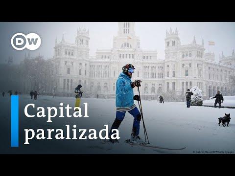 Madrid, helada en plena pandemia