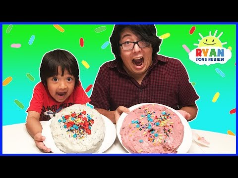 Thumbnail: Cake Challenge Parent vs Kid Family Fun Activities with Ryan ToysReview