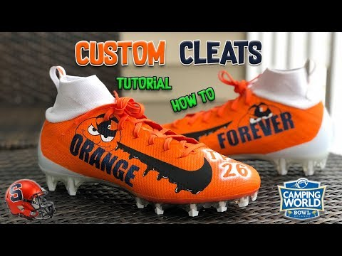 CUSTOM CLEATS FOR CAMPING WORLD BOWL GAME 2018- FULL TUTORIAL