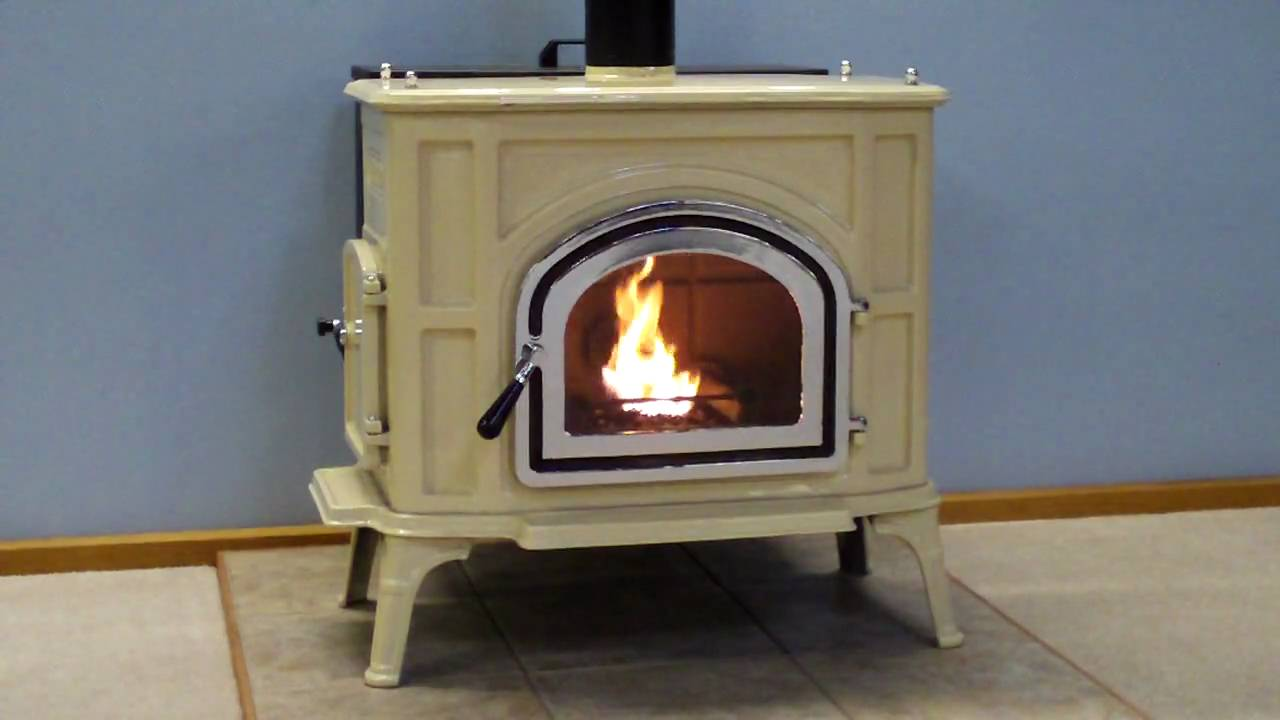 Almond Upland 207 Pellet Stove Burn Youtube