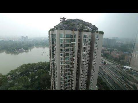Villa complex built on top of 26-storey apartment block in Beijing, China