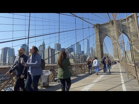 [4k] New York Quick Brooklyn Bridge Walk