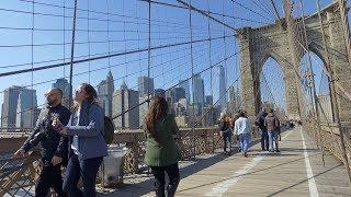 [4k] New York Quick Walk Brooklyn Bridge