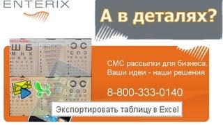 Enterix детализация SMS рассылки