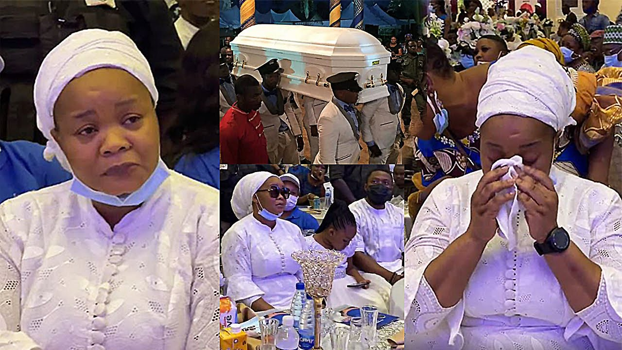 Download Bimbo Oshin In Tears At Her Husband's Burial Ceremony, Tope Alabi & All Yoruba Actress Comforts Her