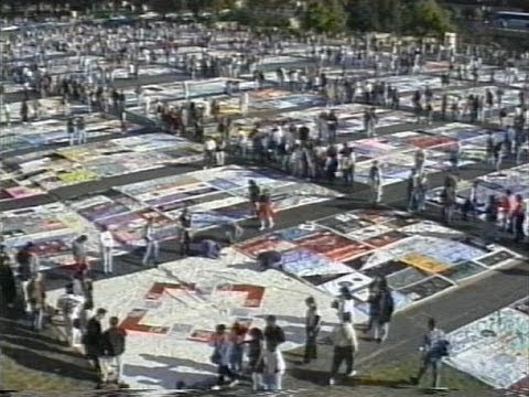 A Day In The Life Of The AIDS Memorial Quilt