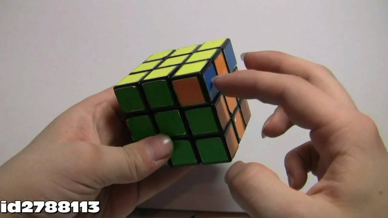 схема сборки куба