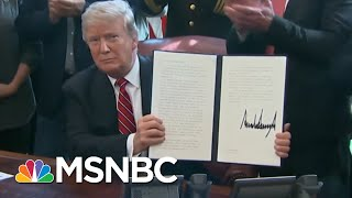 President Donald Trump Basks In Praise Before Signing Veto | All In | MSNBC