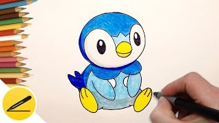 How to Draw Piplup Step by Step (Pokemon Go) ✔