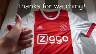 Elmontyouthsoccer.com 17-18 Ajax home jersey Unboxing Review