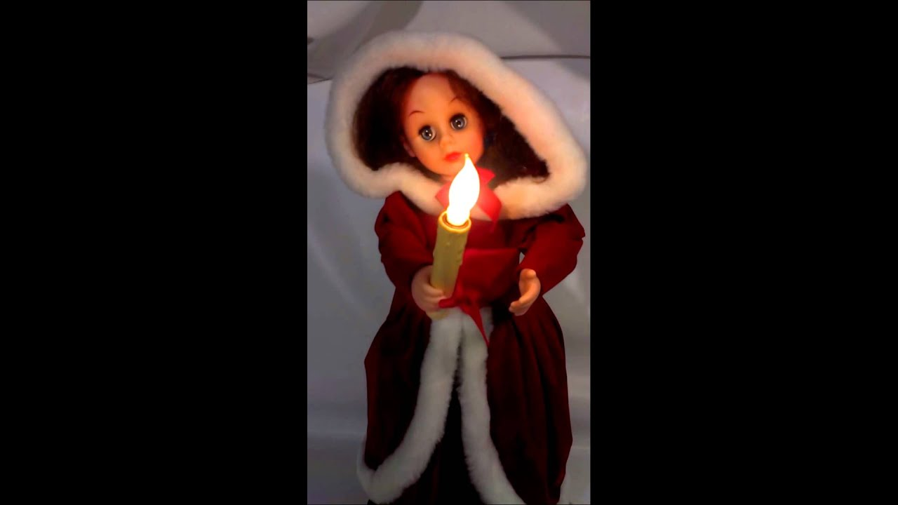 rennoc animated holiday girl in red - Animated Christmas Dolls