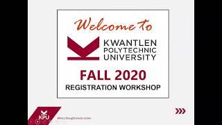 Registration Webinar Recording Fall 2020