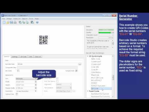 Create Serial Number Barcodes - Barcode Studio (5)
