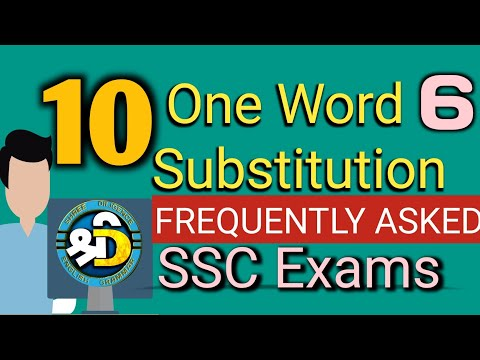 15 One word substitution   English   SSC Exams   One word substitution part 6 by shree diligence