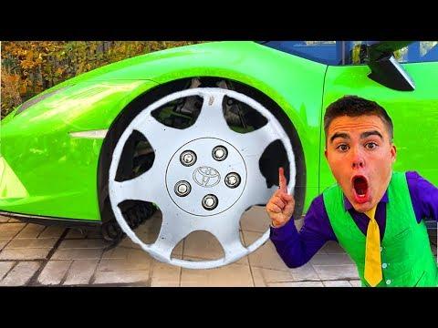 Mr. Joe on Lamborghini found Multicolor Wheel in Car Service VS Red Man on Audi Q3