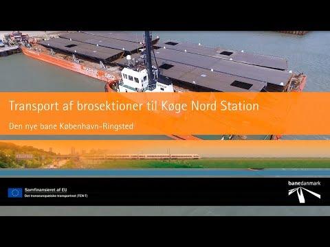 Spektakulær transport til Køge Nord Station
