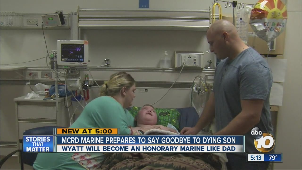 mcrd marine prepares to say goodbye to dying son doovi