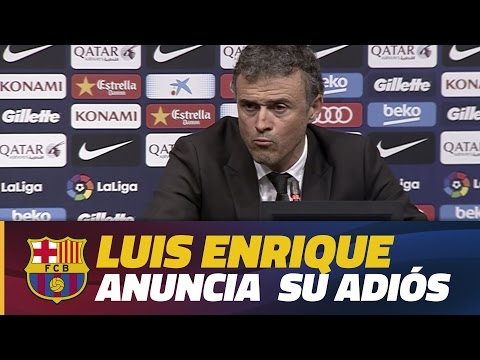Luis Enrique anuncia que no será el entrenador del Barça la próxima temporada