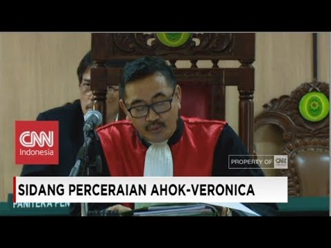 Ahok-Veronica Tan Resmi Cerai - Ketua Hakim Kabulkan Permohonan Cerai Ahok