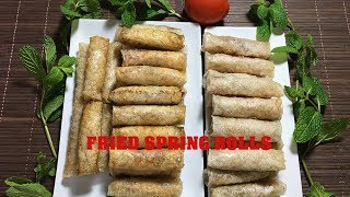How to homemade Crispy Fried Spring Rolls aka Egg Rolls - Instant Pot