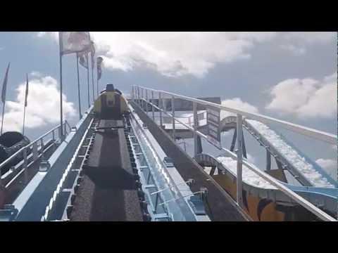The Fair - Niagara Falls Log Flume Ride at Fair Expo 2013 - POV