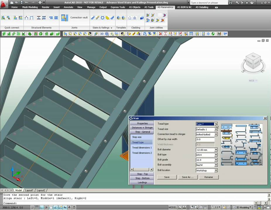 GRAITEC Advance Steel: Stairs and railings automatic creation