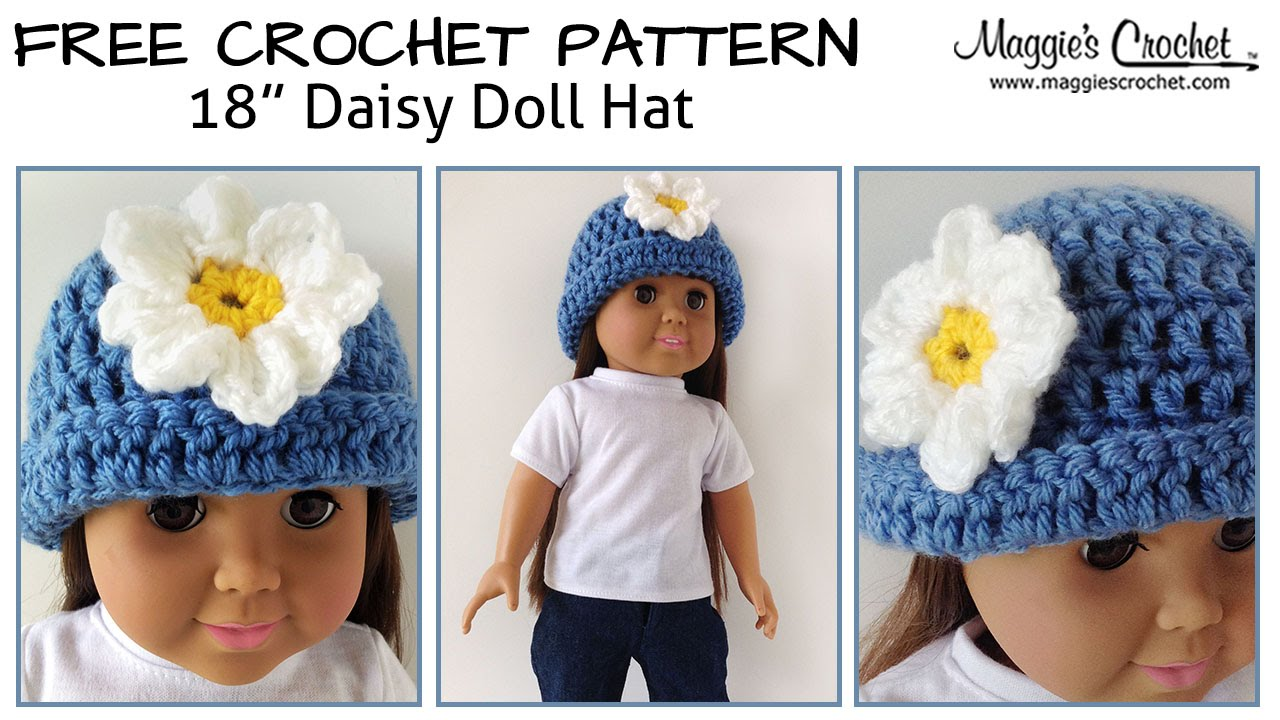 Daisy Hat for an 18\