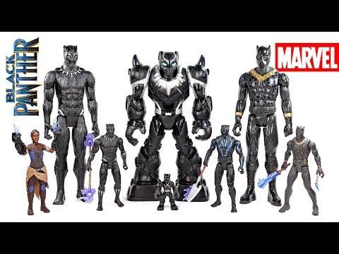 Marvel Black Panther Mech Armor Vibranium Suit Titan Hero w/ Killmonger & Shuri Playskool Heroes