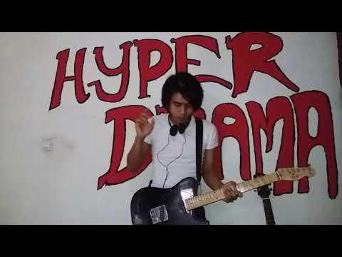 Instrument guitar 1000 bintang Dewa 19 cover Alinesia Rais