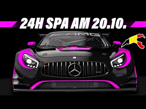 24 Stunden Livestream Ankündigung | 24h Spa Rennen | Assetto Corsa Multiclass Stream Gameplay German