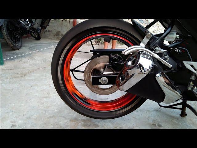 Suzuki Gixxer Modified Tyers and Rim stickers||From Sherpur||Bogura||