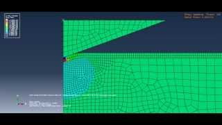 Maximum plane stress - Indentation of brittle coating using abaqus