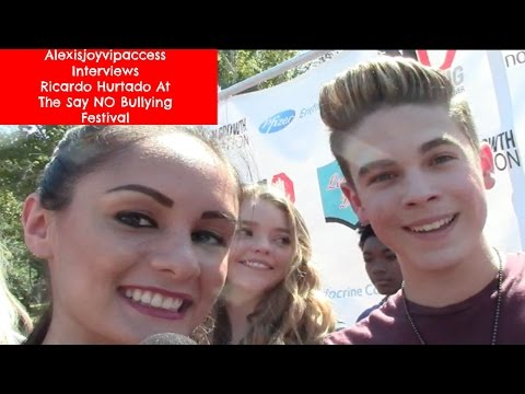 School Of Rock's Ricardo Hurtado Interview - Alexisjoyvipaccess - Say No Bullying Festival