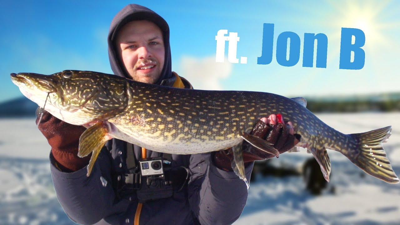 Arctic pike perch ice fishing ft jon b youtube for Jon b fishing