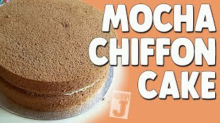 How to Bake Mocha Chiffon Cake