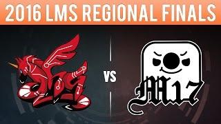 AHQ vs M17, Game 3 - LMS 2016 Regionals Finals - ahq e-Sports vs Machi