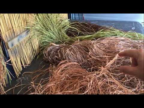 How To Close Blinds >> Building the duck barge - Raffia grass for the blind 28 - YouTube