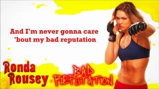 Gambar cover Ronda Rousey WWE Theme - Bad Reputation (lyrics)