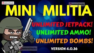 Mini Militia CTF Unlimited Ammo And Unlimited Nitro Android 2017 [No Root] 🔥🔥 | Weekend Hacks