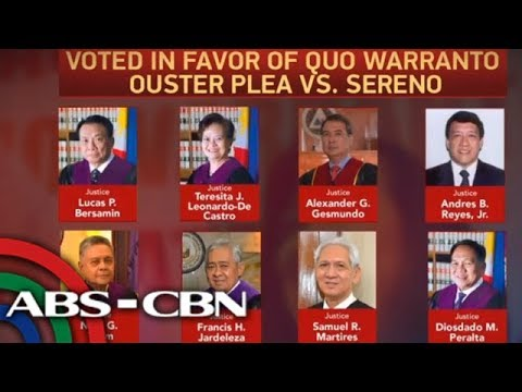 The World Tonight: Supreme Court ousts Chief Justice Sereno